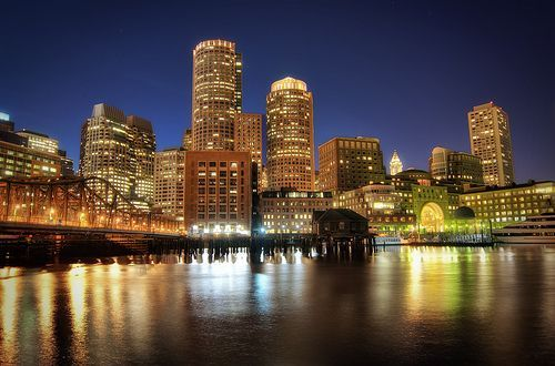 Boston Downtown at Night, por Werner Kunz