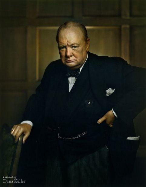 Winston Churchill, Primer Ministro Británico, 1941, por klassixx