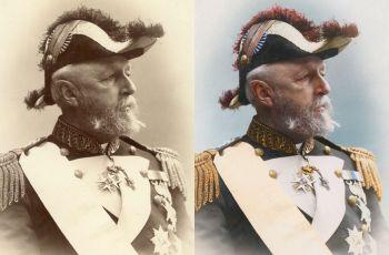 Oscar II, rey de Suecia y Noruega, año 1880, por mygrapefruit