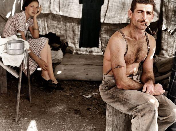 Trabajador de la construcción sin empleo, 1939, por zuzahin