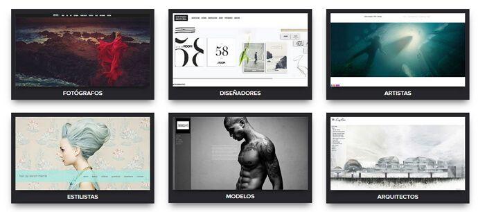ejemplos de portafolios en portfoliobox