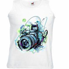 Camiseta mujer cámara