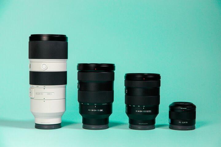 Diferentes tipos de objetivos para cámaras