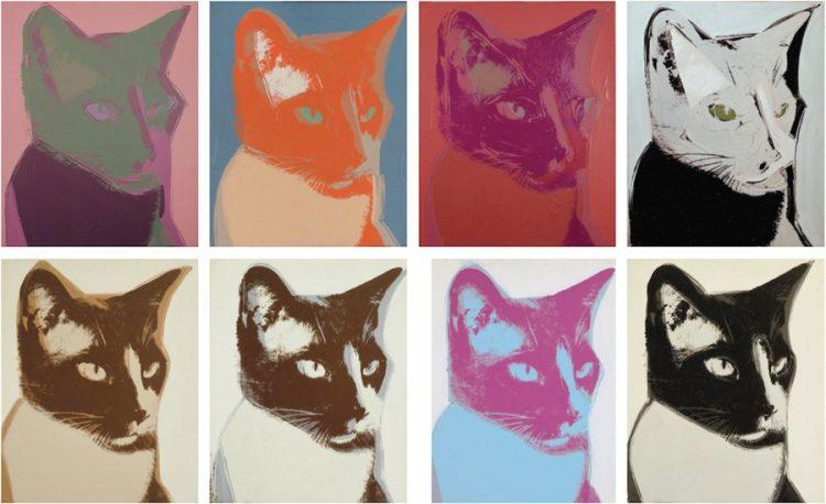 Perros y gatos de Andy Warhol