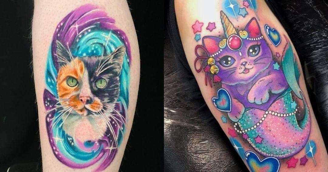 27 tatuajes de gatos que te dejarán con ganas de tinta