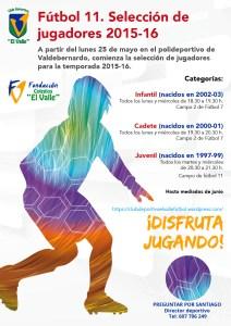 PRUEBAS DE NIVEL FUTBOL 11 - 2015