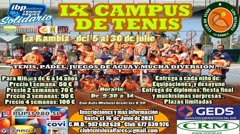 IX CAMPUS DE TENIS EN LA RAMBLA
