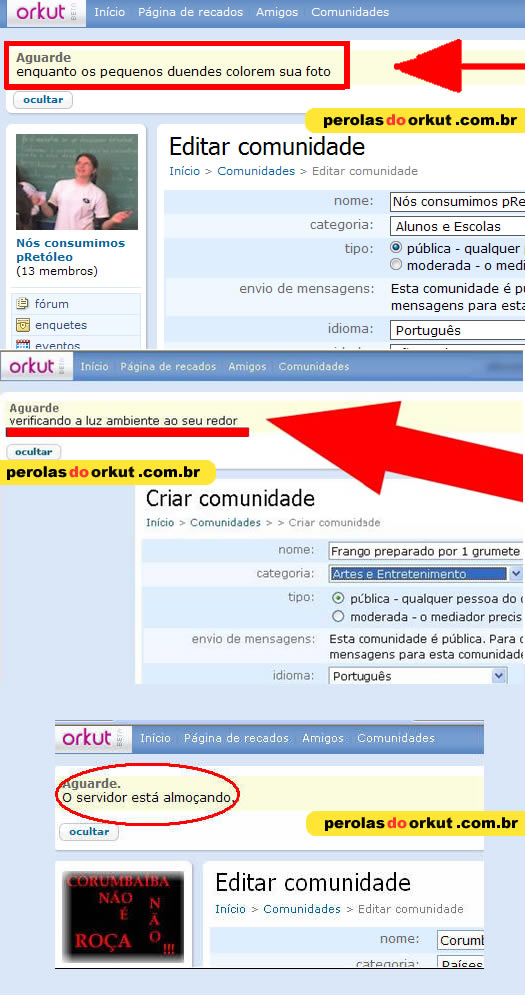 Pérolas do Orkut (2/3)