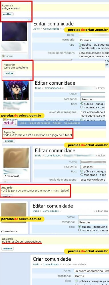 Pérolas do Orkut (3/3)