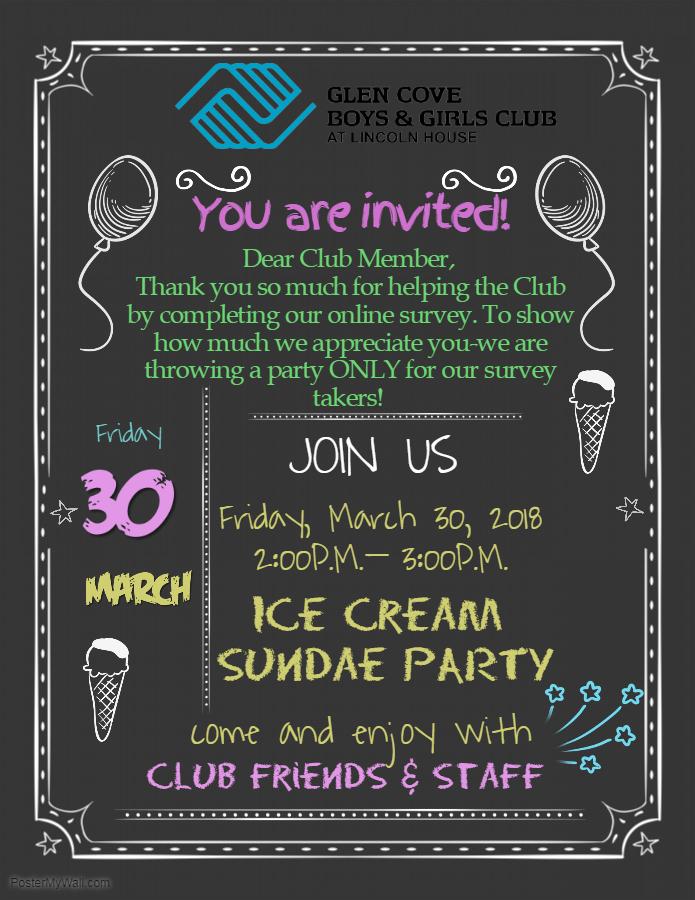 NYOI Ice Cream Party Invitation