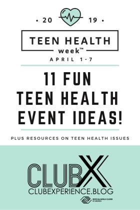 Teen Health Week pin
