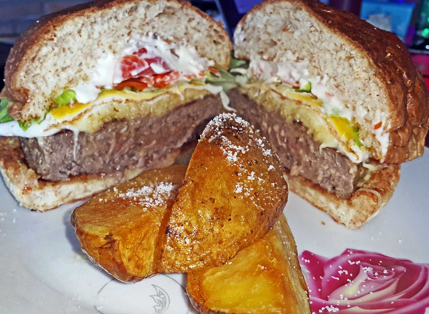 The Big Beef Burger Only At The Club House Bali in Sanur