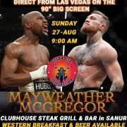 Mayweather vs McGregor Live Clubhouse Sanur