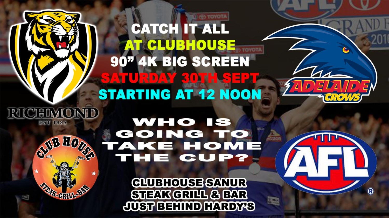 AFl Grand Final 2017 Live Clubhouse Sanur Bali