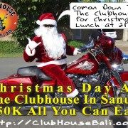 Clubhouse Bali Sanur Christmas Day Lunch 2017