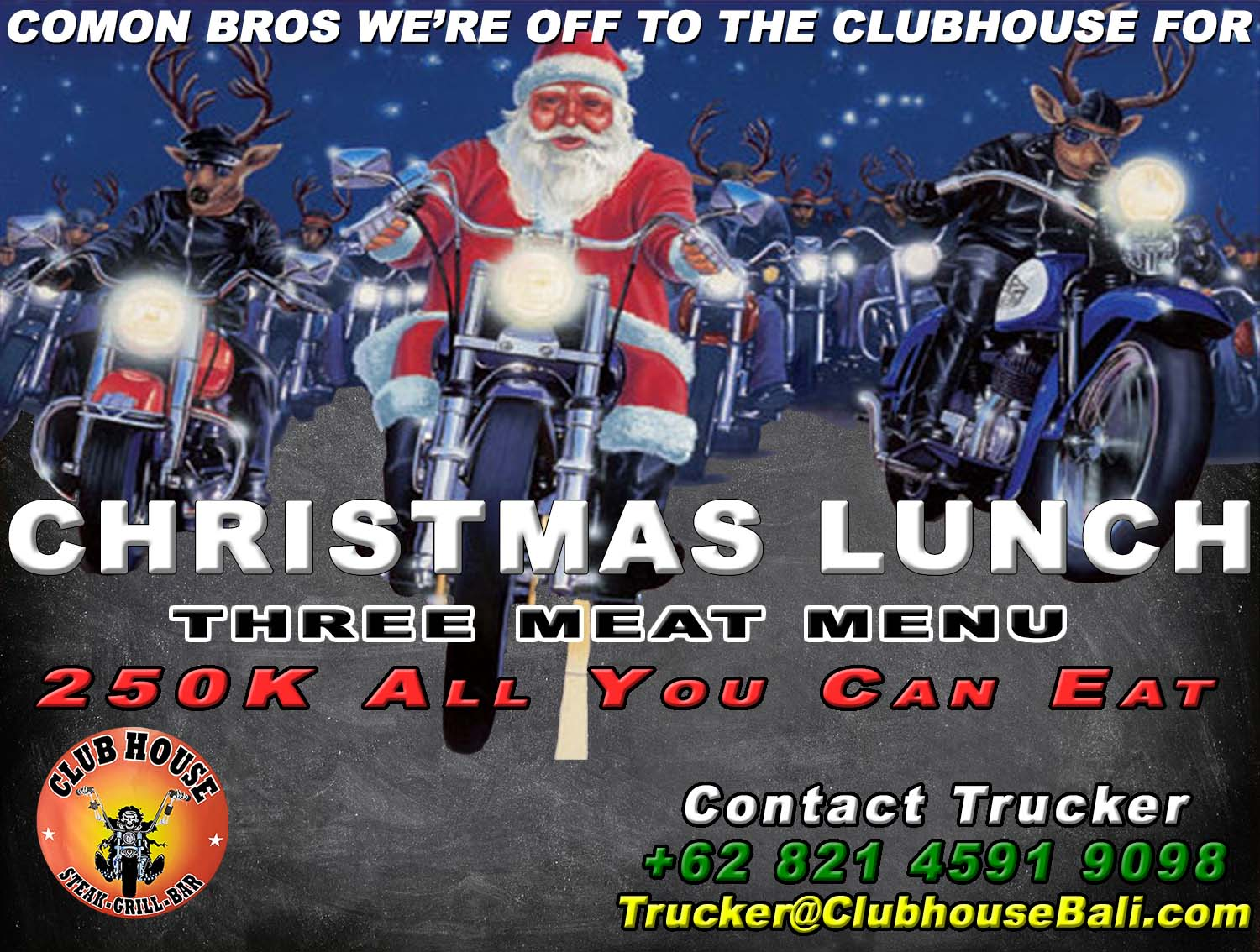 Clubhouse Bali Christmas Lunch Special 2017