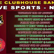 LIVE SPORTS BALI CLUBHOUSE SANUR NRL RUGBY