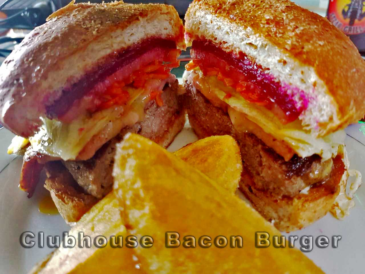 The Clubhouse Bacon Burger Clubhouse Steak Grill & Bar