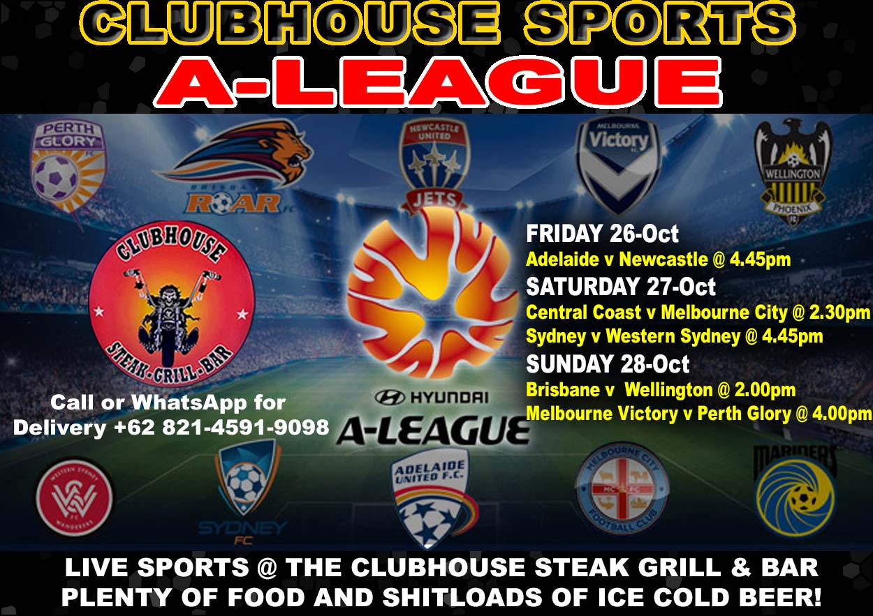 Clubhouse Steak Grill & Bar in Bali A League LIVE @ the Clubhouse Sanur