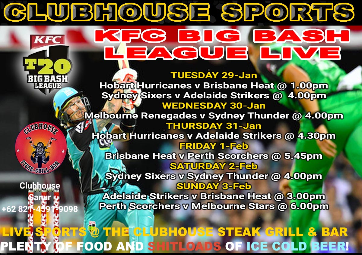 Clubhouse Bali Presents KFC Big Bash League