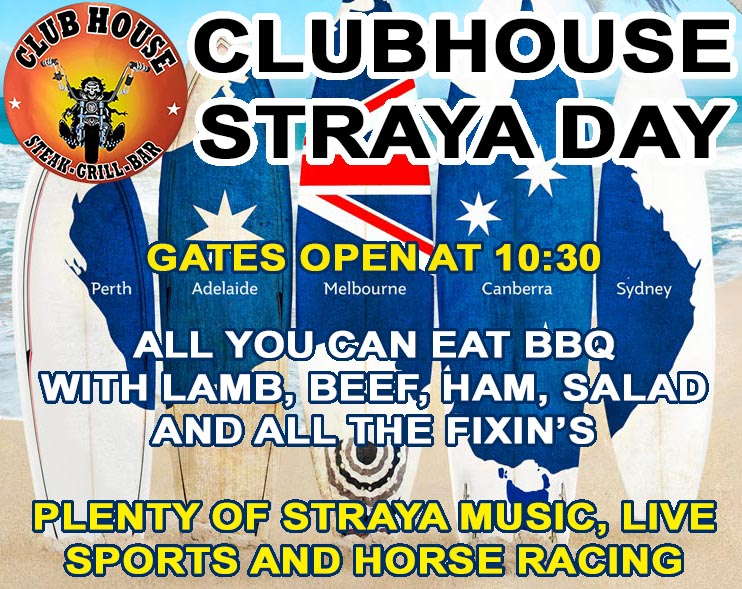 Straya Day at the Clubhouse Sanur