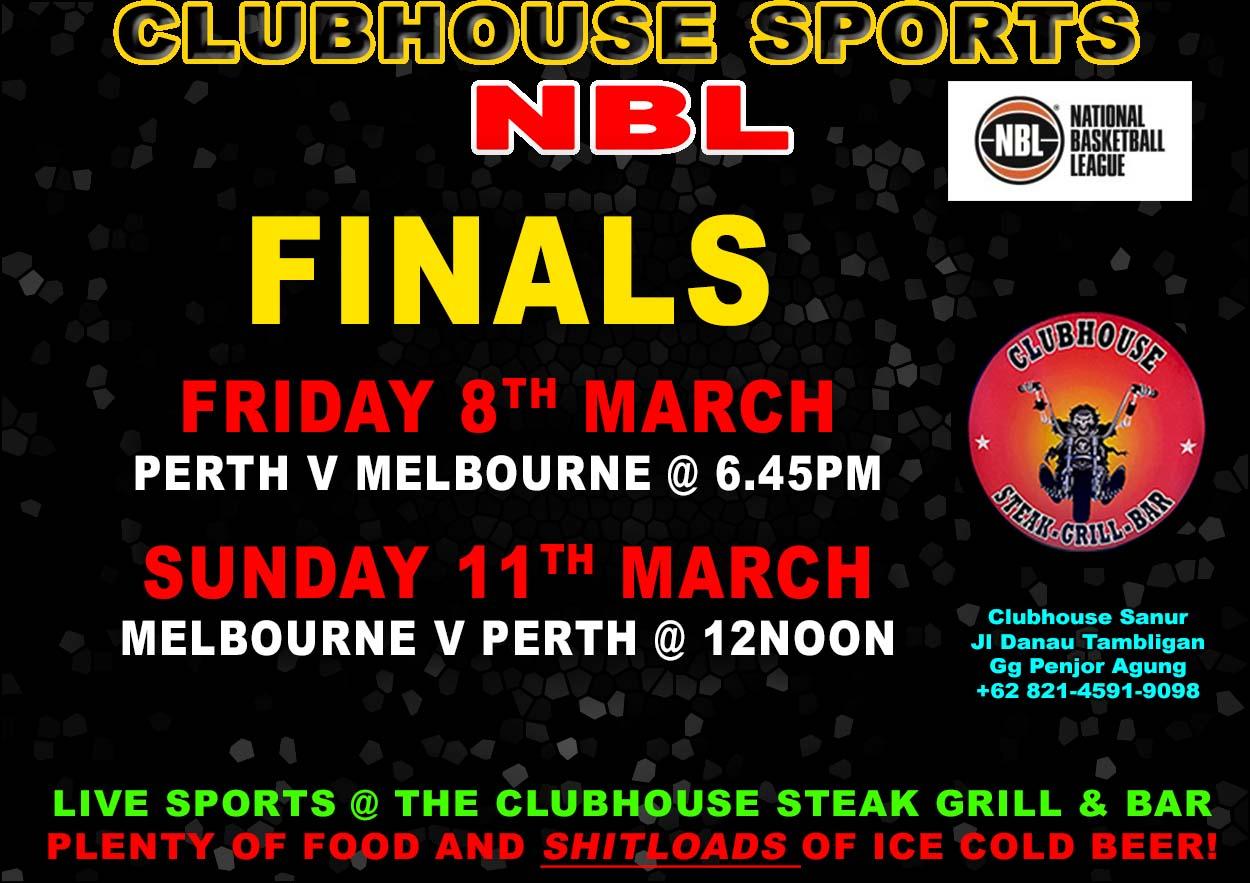 Clubhouse Steak Grill & Bar Sanur NBL FINALS 2019
