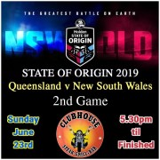 Clubhouse 2019 State of Origin Game 2 Live Bali