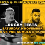 Clubhouse Sanur Sports Rugby Tests Fiji vs Kumuls