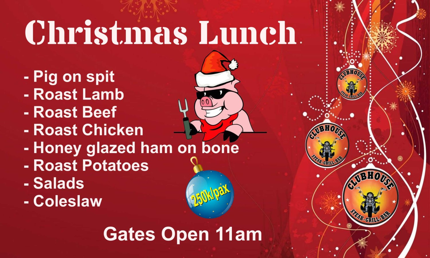 Enjoy our Christmas Lunch Special 250K All You Can Eat