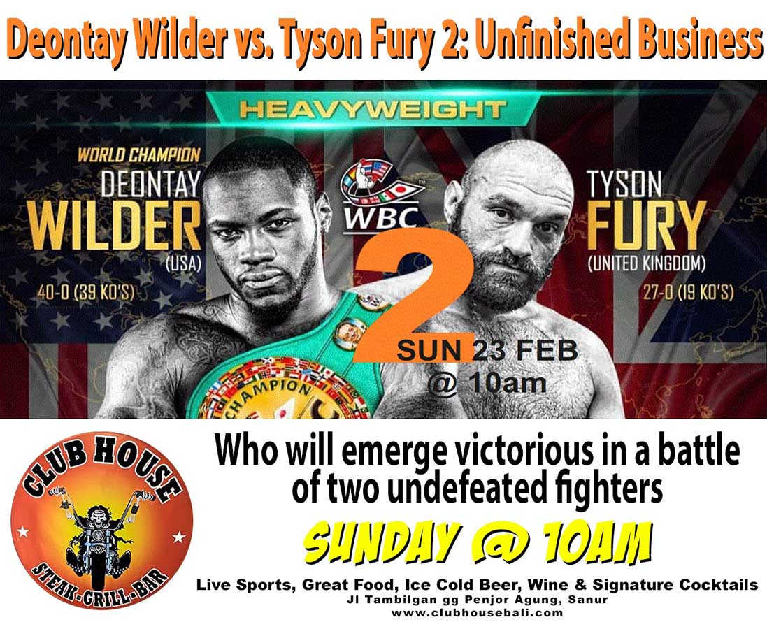 Deontay Wilder vs. Tyson Fury 2: Unfinished Business
