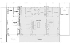 Layout Studio Floorplan Clubhouse Bali Condos