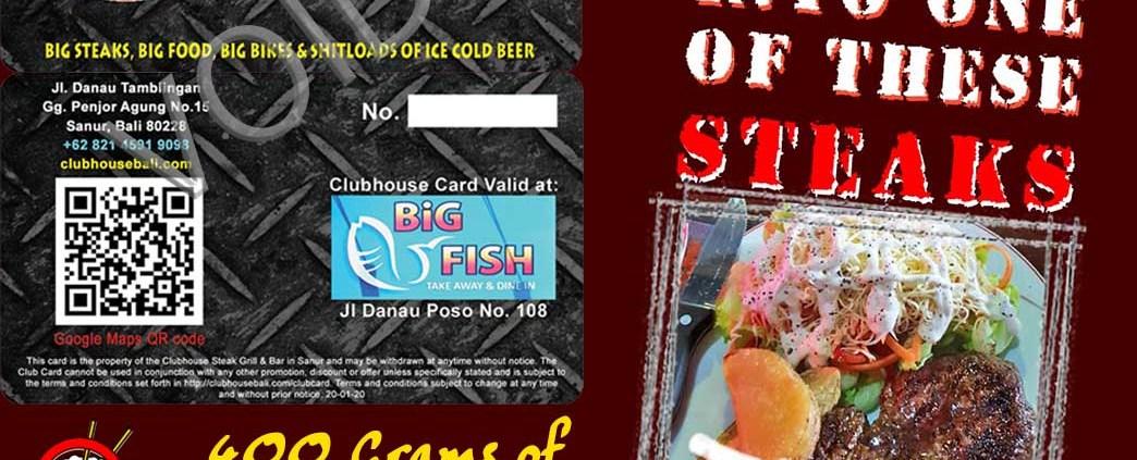 Clubhouse Sanur Club Card 10% Off all Food & Bev