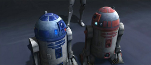 Artoo is macking on R5's woman!
