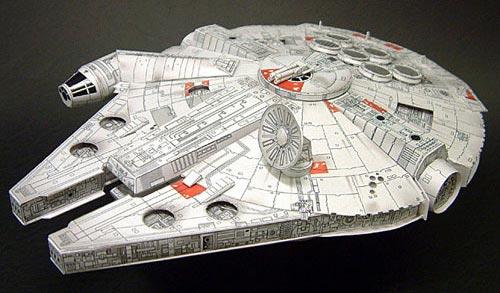 Millennium Falcon papercraft by Shunichi Makino