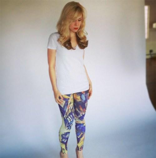 Ashley models Doctor Who leggings
