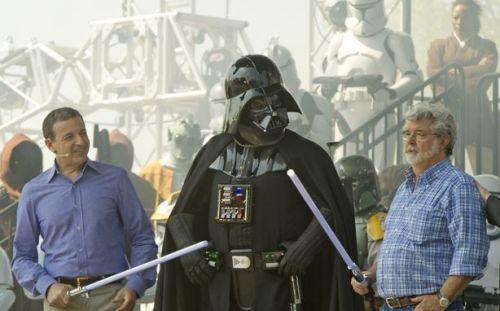 Disney CEO Bob Iger and George Lucas