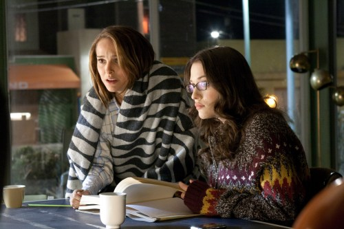 Natlie Portman and Kat Dennings in Thor.