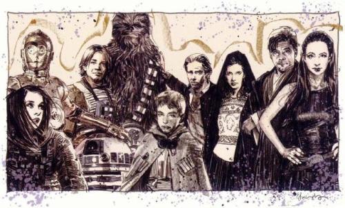 Skywalker/Solo family in the NJO