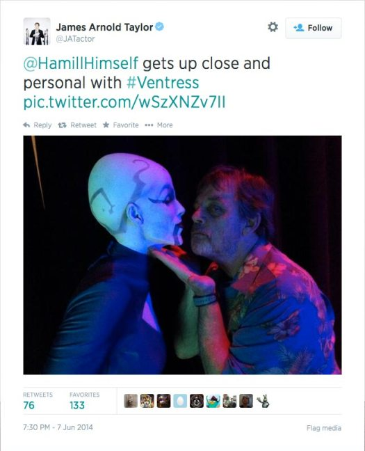 @JATactor: @HamillHimself gets up close and personal with #Ventress pic.twitter.com/wSzXNZv7II