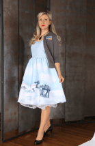 X-wing cardigan and Cloud City dress (Her Universe Celebration Anaheim)