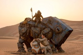 Rey, BB-8, Teedo and his luggabeast