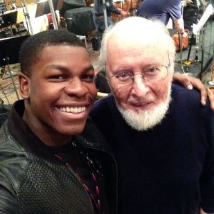 john_boyega: The man himself John Williams! I watched him make magic today. The music is EPIC!