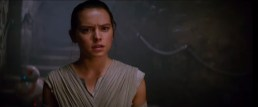 Rey approaches... Something? (BB-8! Stairs!) This could be Maz Kanata's castle, but in the spot, this shot leads into...