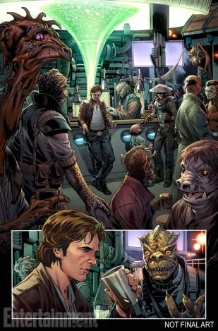 Han Solo #1 interior (Mark Brooks)