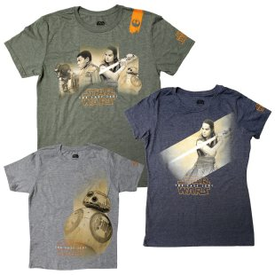 The Last Jedi / Force for Change shirts
