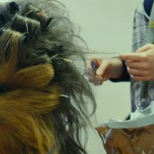 Chewbacca's curlers (TLJ BTS)