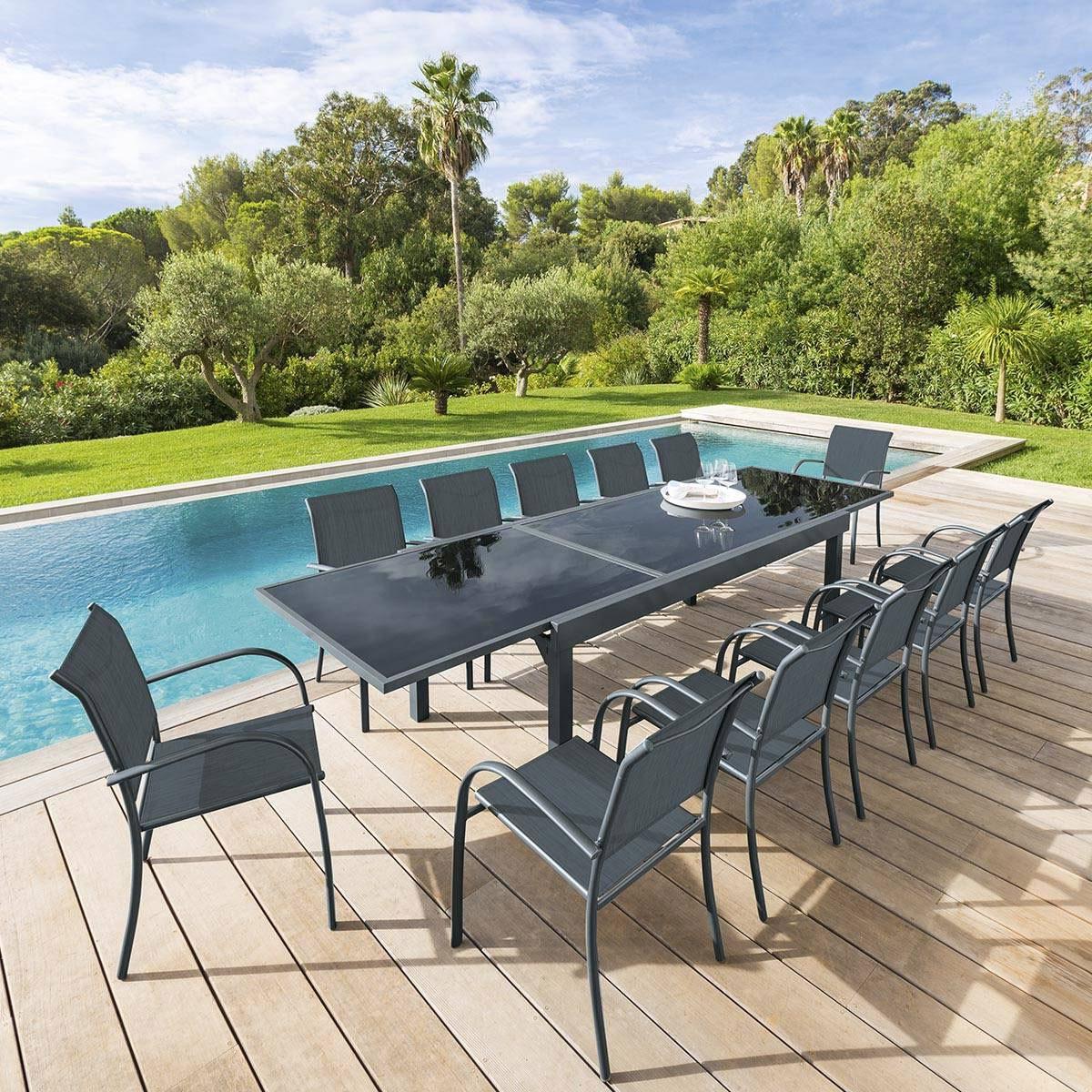 table de jardin extensible piazza