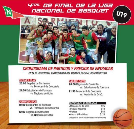 BASQUET: Alentemos a la U19 en los 4tos. de Final del Campeonato Argentino.