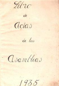 Libros de actas fundacional