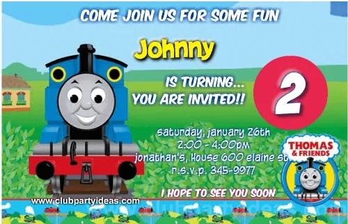 thomas friends birthday invitations